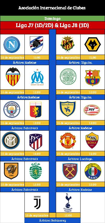 [AICv19] Horario Partidos Aplazados / SF Copa AIC & Copa Community / Liga J7(1D/2D) & Liga J8 (3D) Liga10