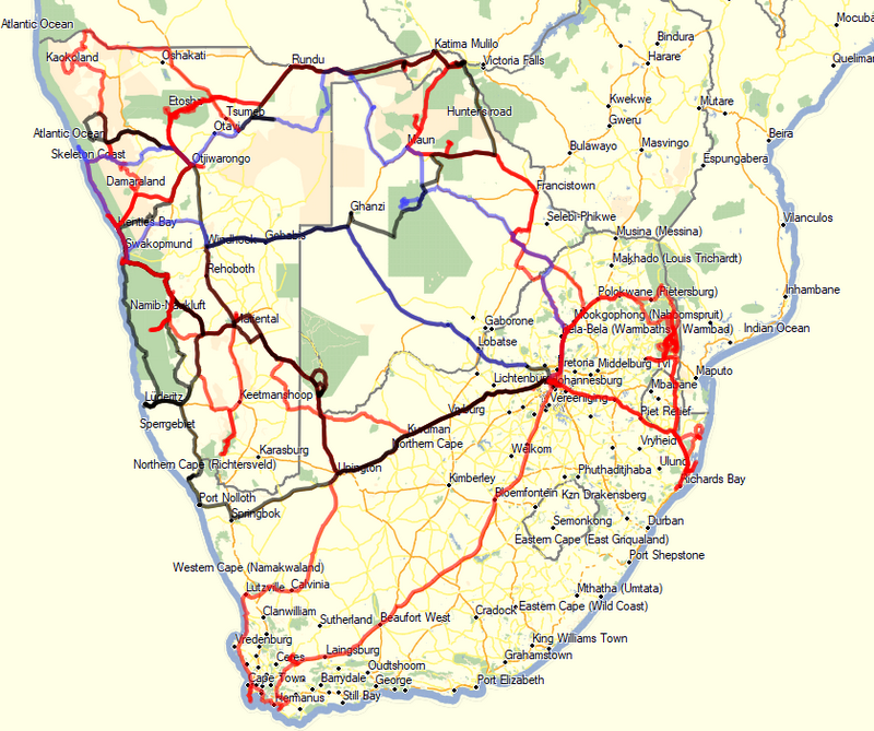 Namibie/Botswana/Zimbabwe Traces10