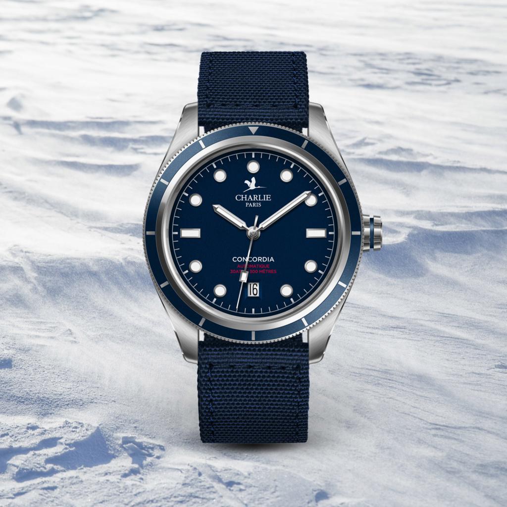 Lancement de la Concordia, montre plongeuse par Charlie Paris C210