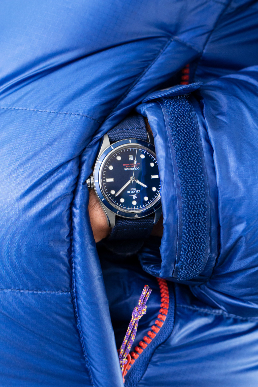 Lancement de la Concordia, montre plongeuse par Charlie Paris Concor15