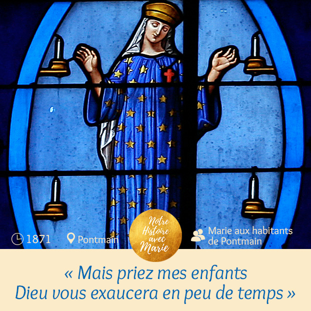 Notre Dame de Pontmain anniversaire  Marie_15