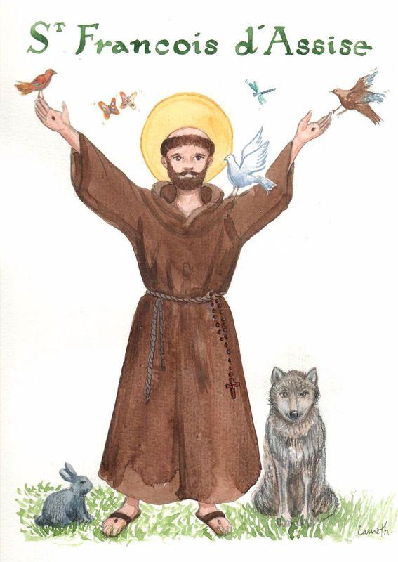 Saint François d'Assise fête le 4 Octobre St_fra13