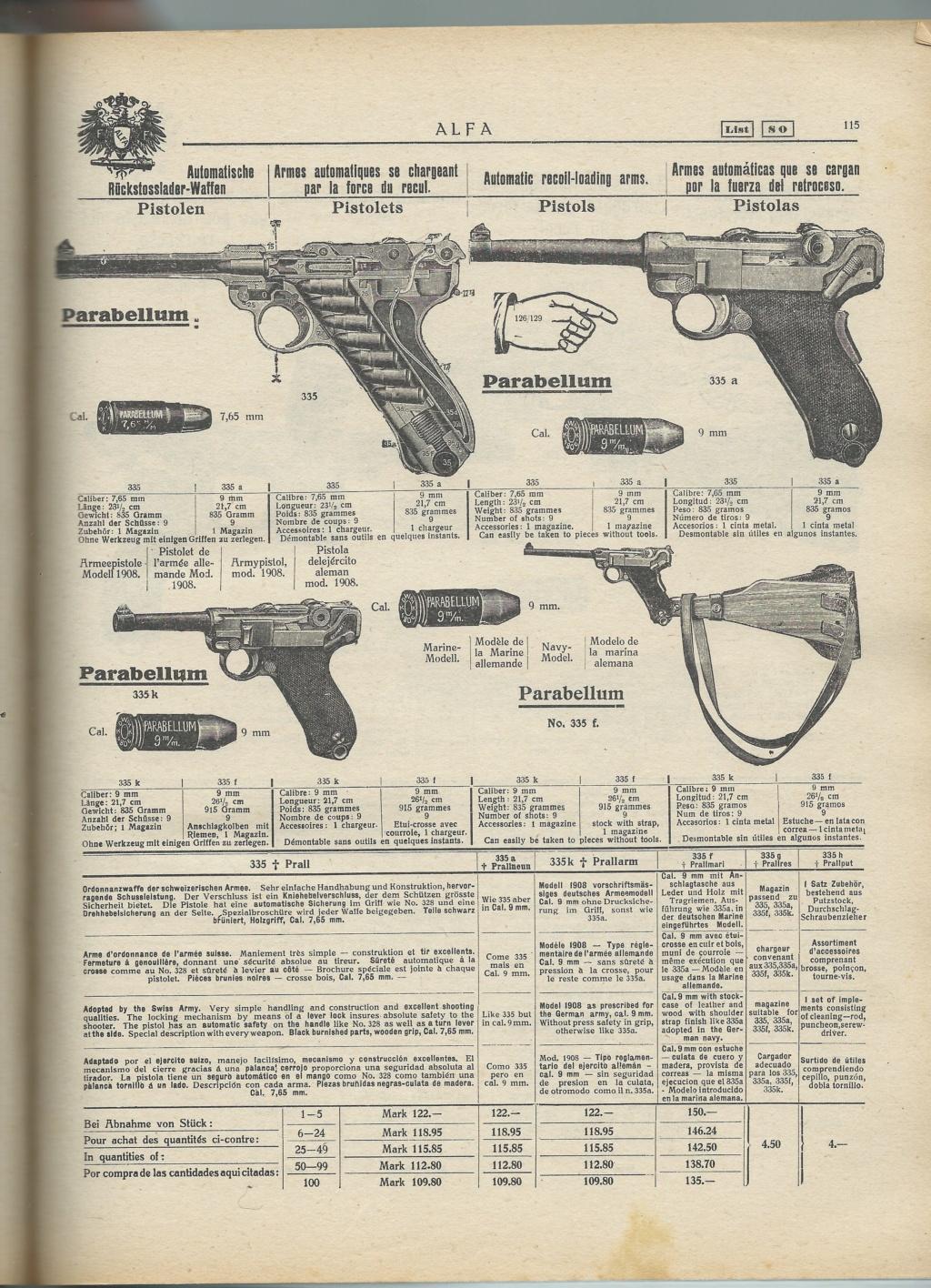 Le Luger dans les catalogues de vente de 1900 à 1934 - Page 2 31329713