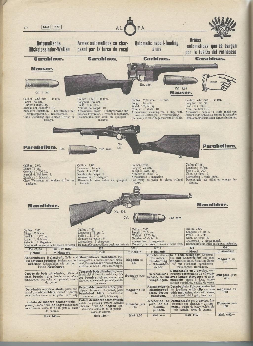 Le Luger dans les catalogues de vente de 1900 à 1934 - Page 2 9764d213