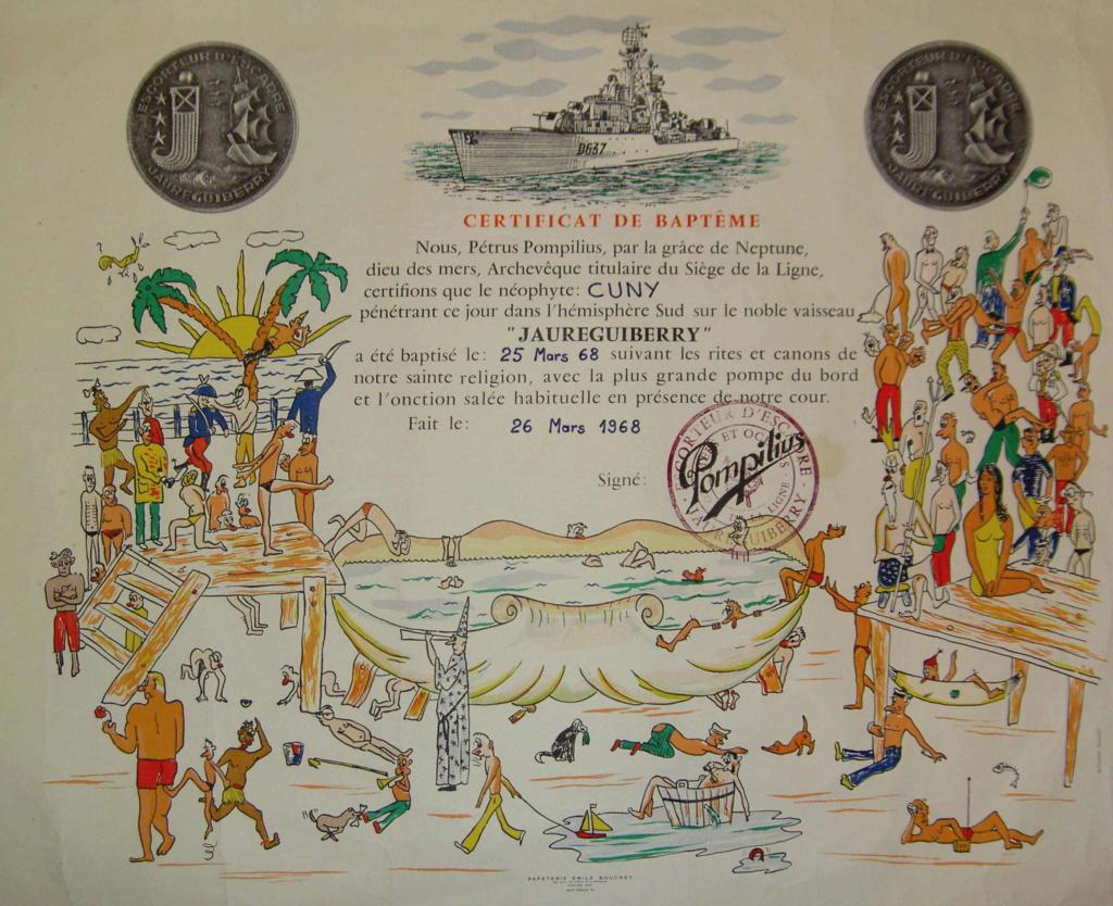 [ Les traditions dans la Marine ] LE PASSAGE DE LA LIGNE - ÉQUATEUR (Sujet unique) - Page 15 Certif10