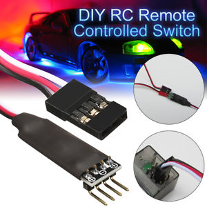 Two Channels Control Switch Receiver Cord Model Car Lights Remote For RC `RU