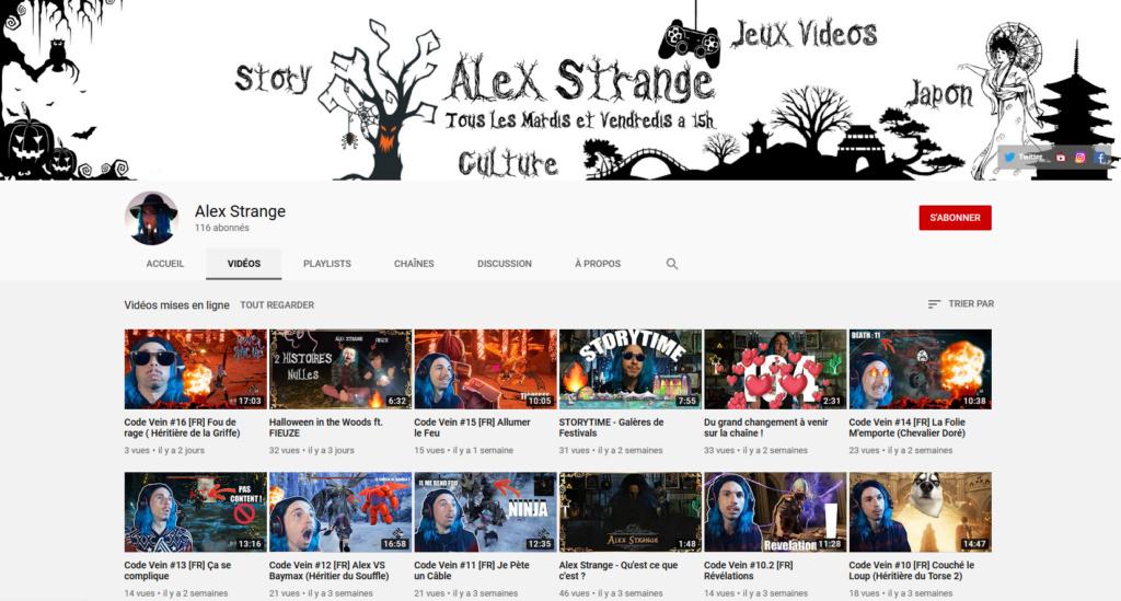 ★★★ Le Vidéaste à l'Honneur #34 | Alex Strange | Venez critiquer cette chaîne ! Alex_s10