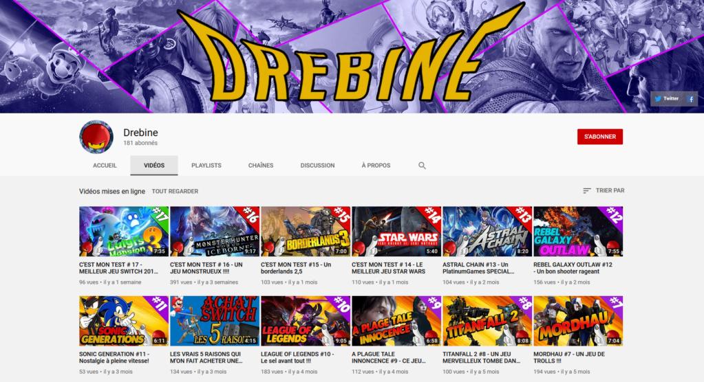★★★ Le Vidéaste à l'Honneur #36 | Drebine | Venez critiquer cette chaîne ! Drebin11