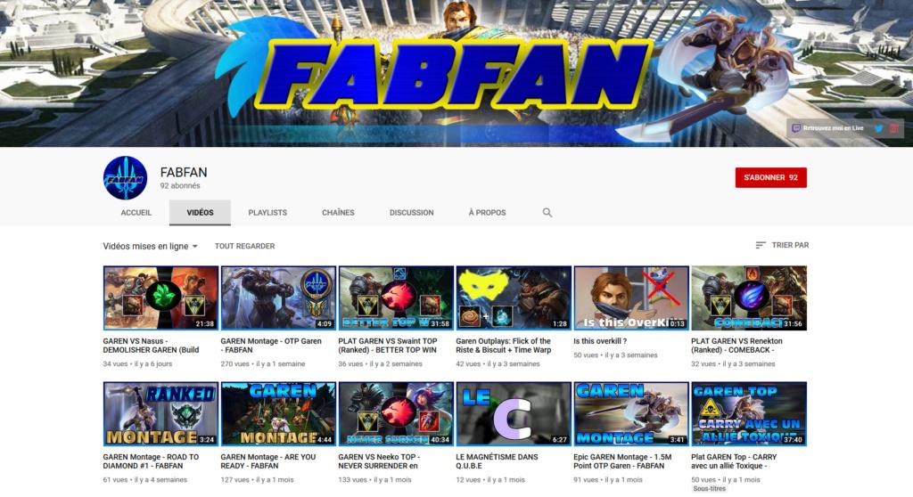 ★★★ Le Vidéaste à l'Honneur #26 | Fabfan | Venez critiquer cette chaîne ! Fabfan10