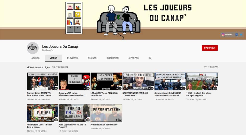 ★★★ Le Vidéaste à l'Honneur #47 | Les Joueurs du canap | Venez critiquer cette chaîne ! Les_jo10