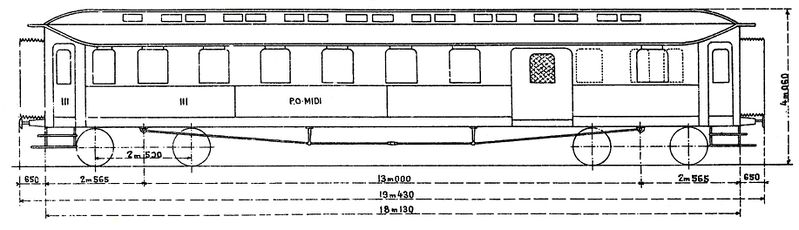 voitures Midi puis SNCF d'origine Prusse 799px-10