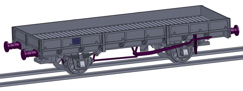 [TJ-Modeles] TJ-7510 : Kit Plat OCEM 29 avec frein à levier, boites d'essieux à coussinets - roues à rayons Tj-75110
