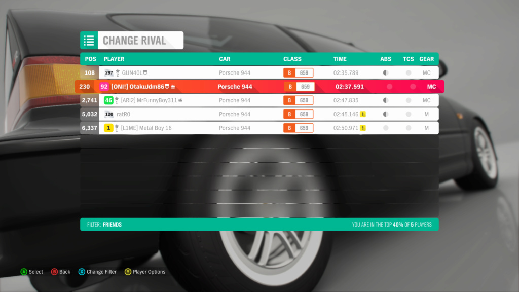 FH4 Time Attack | Road Racing Rivals | Porsche 944 - Lake District Sprint 11-3-210