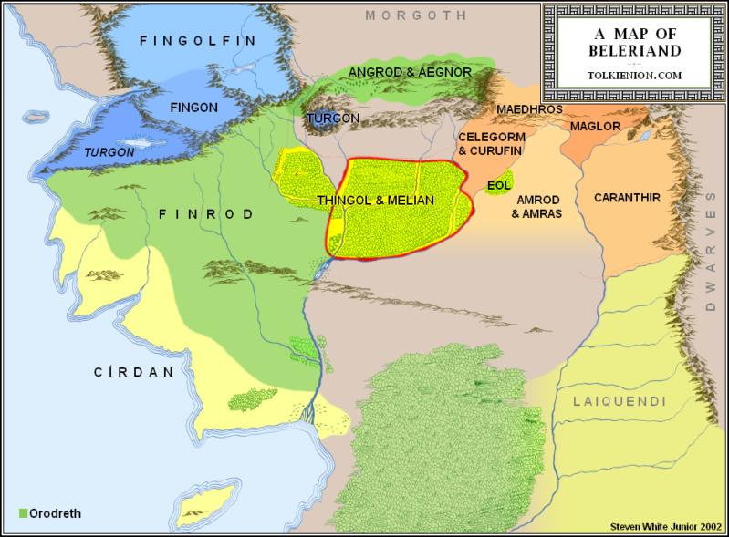 De la tierra de Beleriand Reinos10