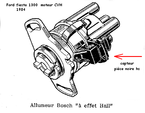 [ Ford fiesta 1300 essence an 1984  ] Allumeur systeme hall en panne Allume10