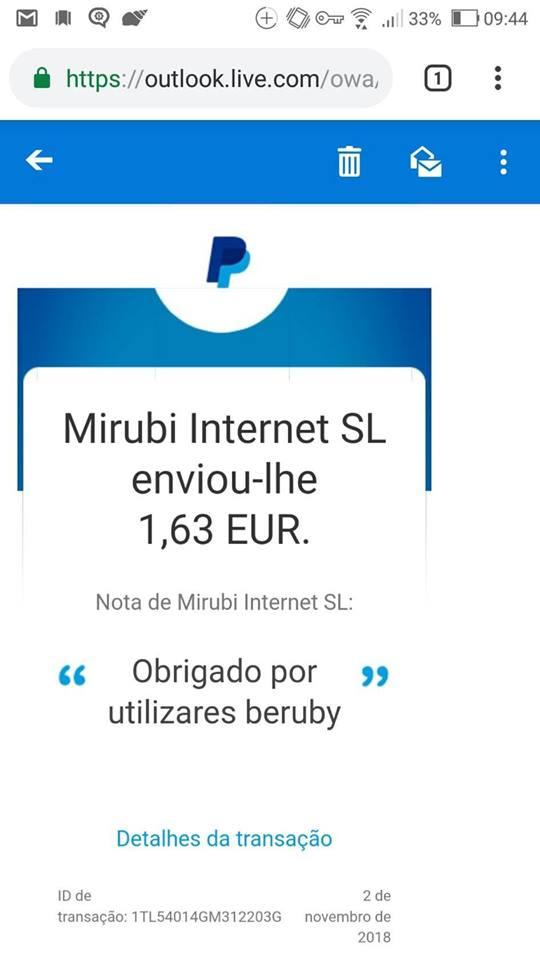 Oportunidade [Provado] Beruby - Recebe de volta € gasto em compras online (já ganhei 40€) 45202410