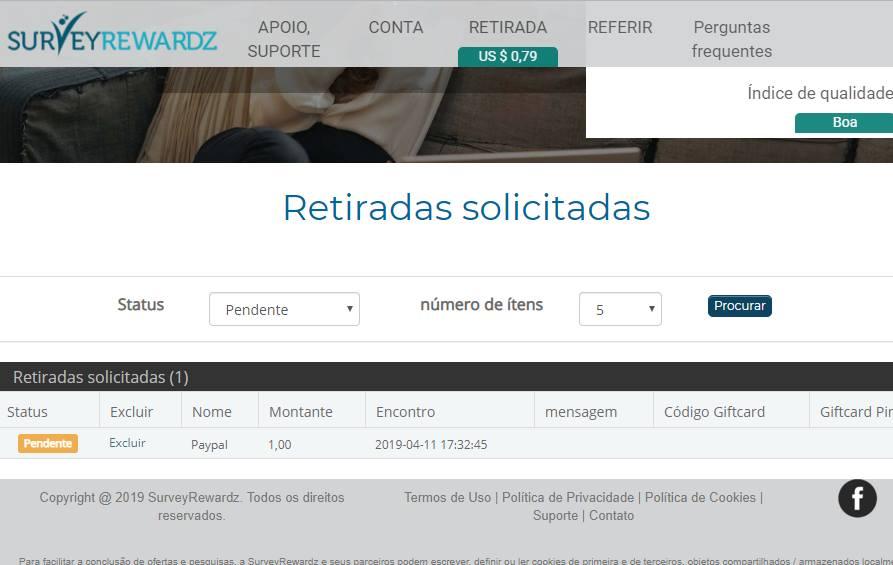 Oportunidade [Provado] Survey Rewards - Inquéritos remunerados (ganhei 42€) 57052210