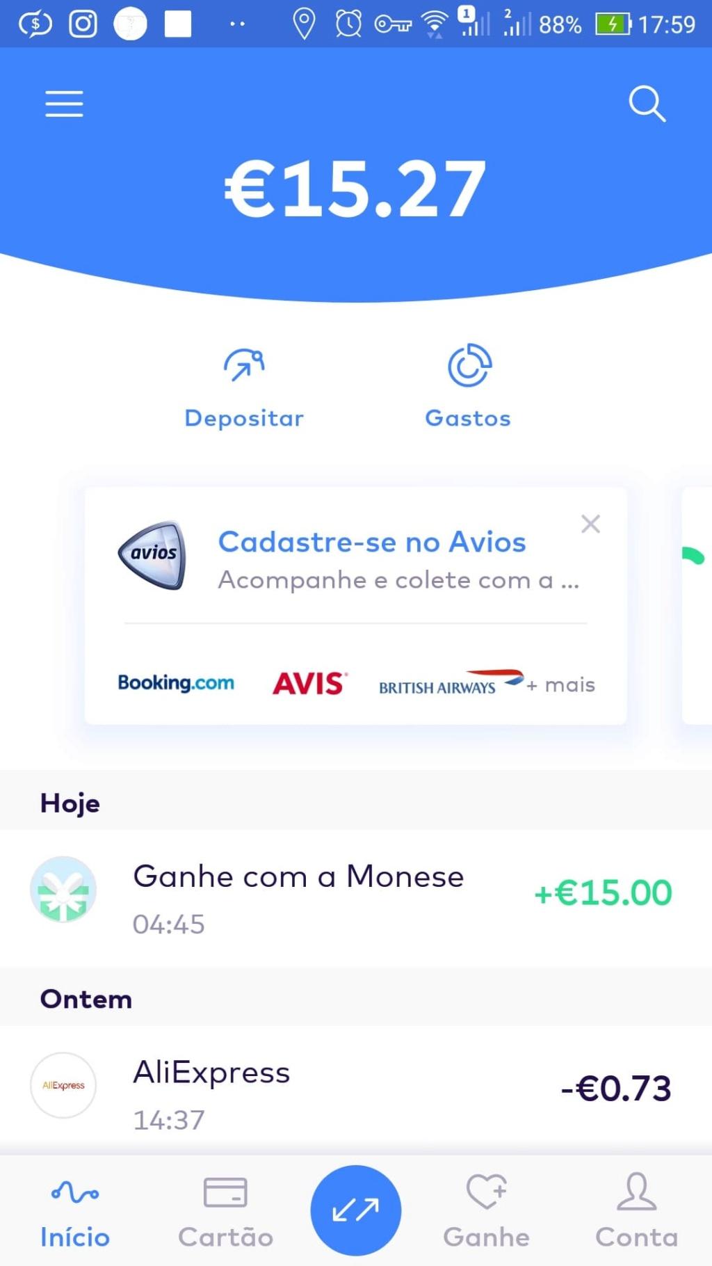 Oportunidade [Provado] Monese App - Ganha até 25€ (ganhei 160€) 61773810