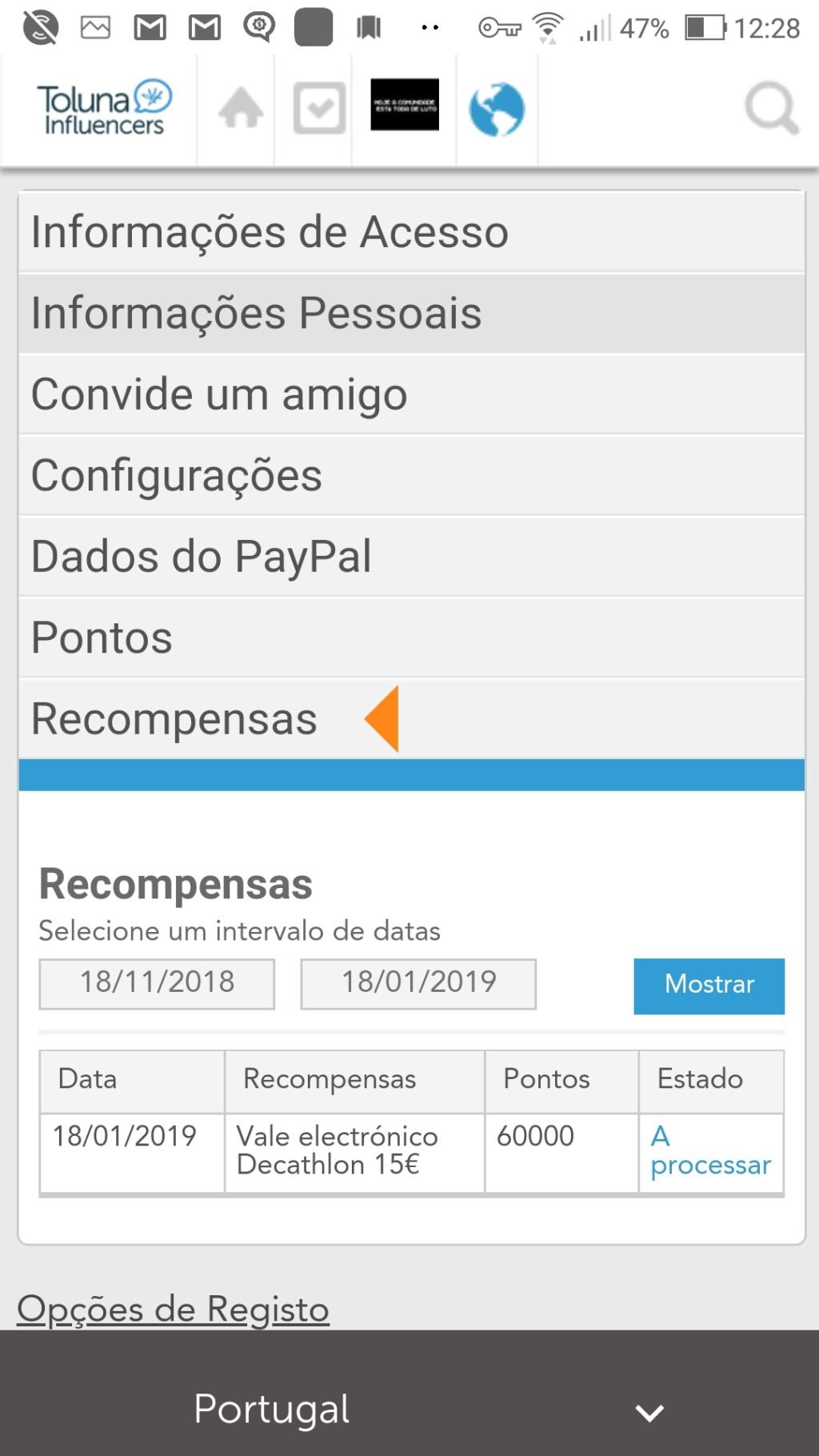 Oportunidade [Provado] Toluna - Inquéritos e concursos remunerados (já ganhei 35€) Screen18