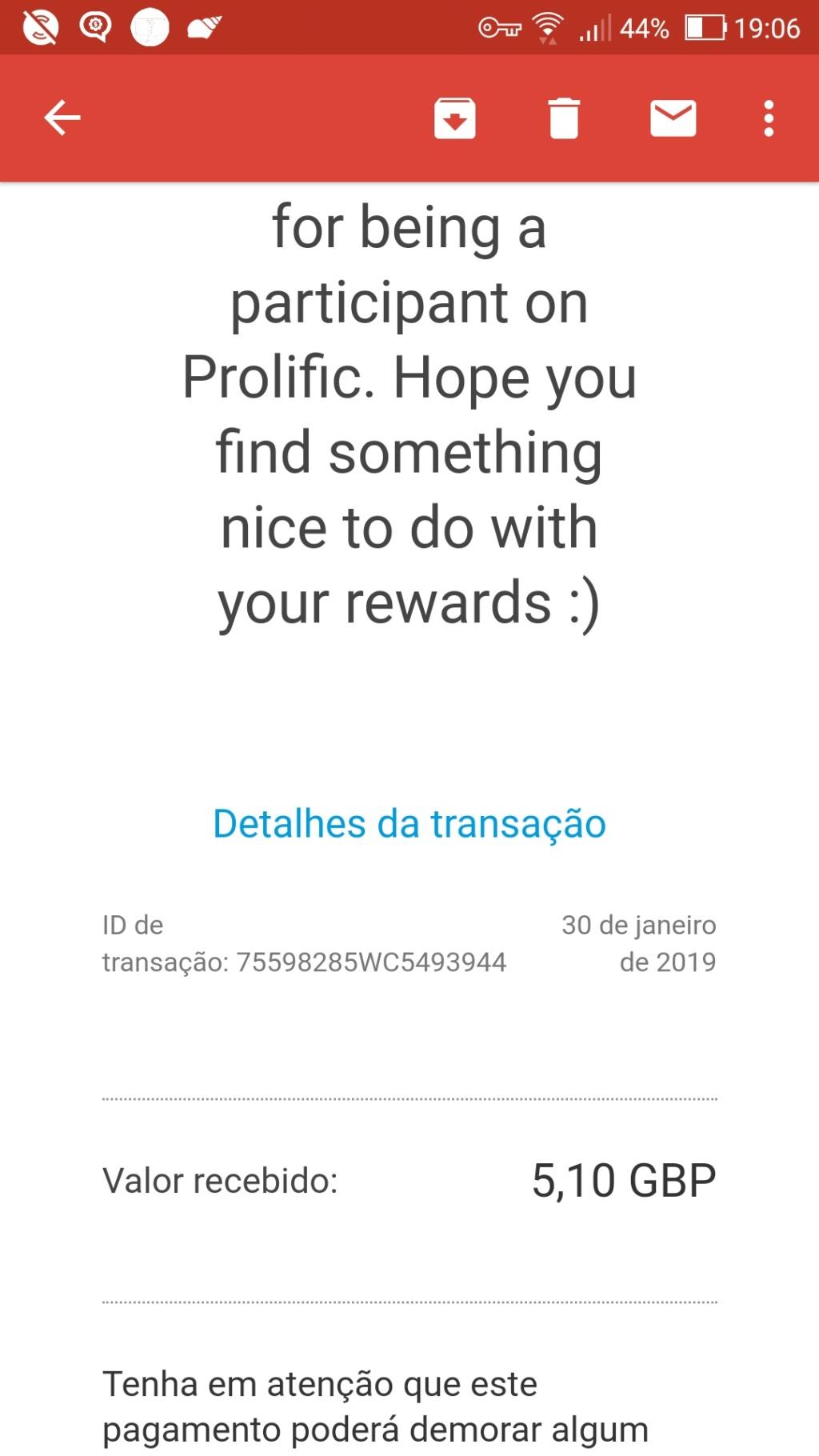 Oportunidade [Provado] Prolific Estudos online remunerados (já ganhei 100€) - Página 2 Screen19