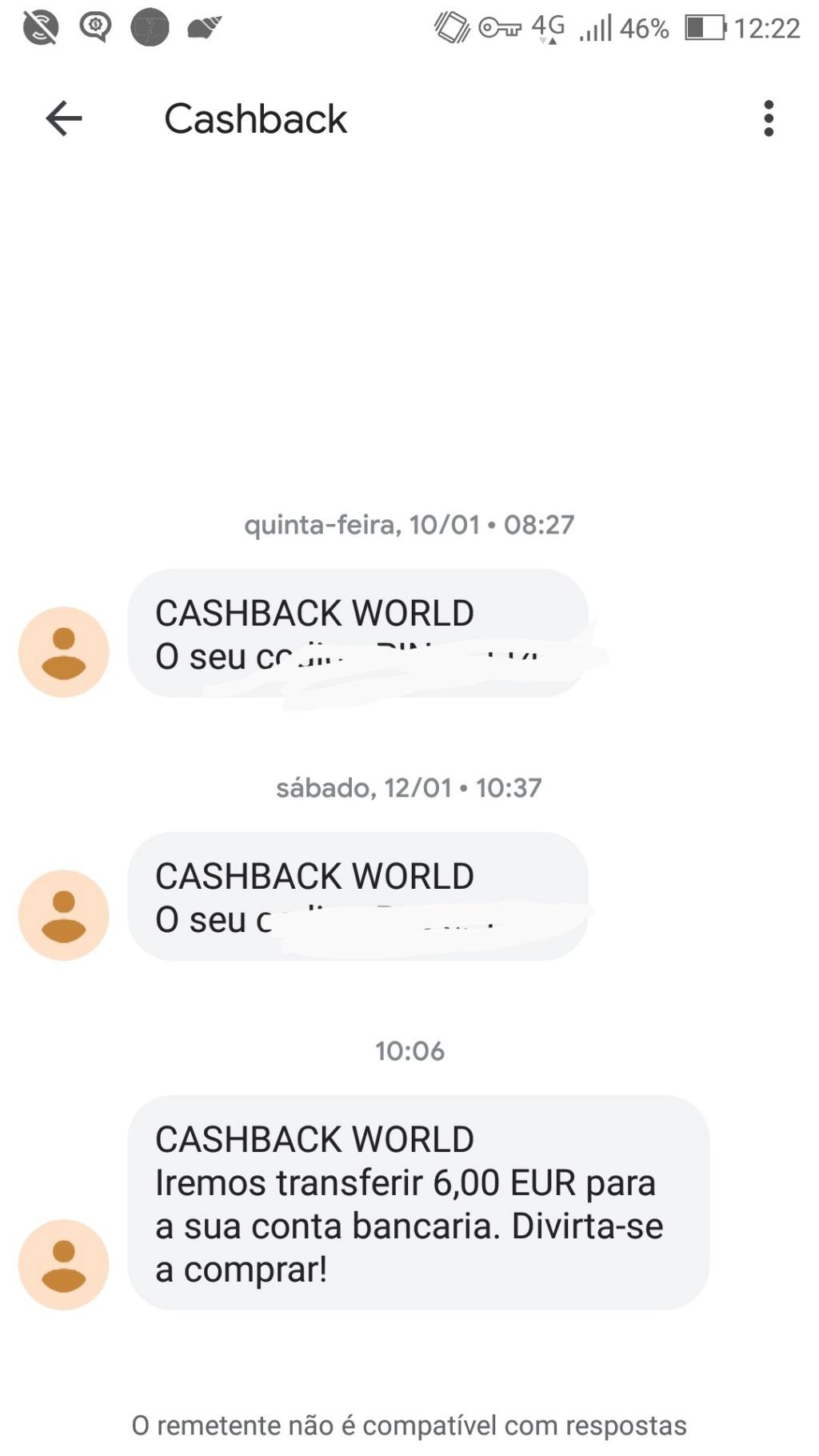 Oportunidade [Provado] Cashback World - Recebe parte do € que gastas em compras online (já ganhei 6€) Screen21