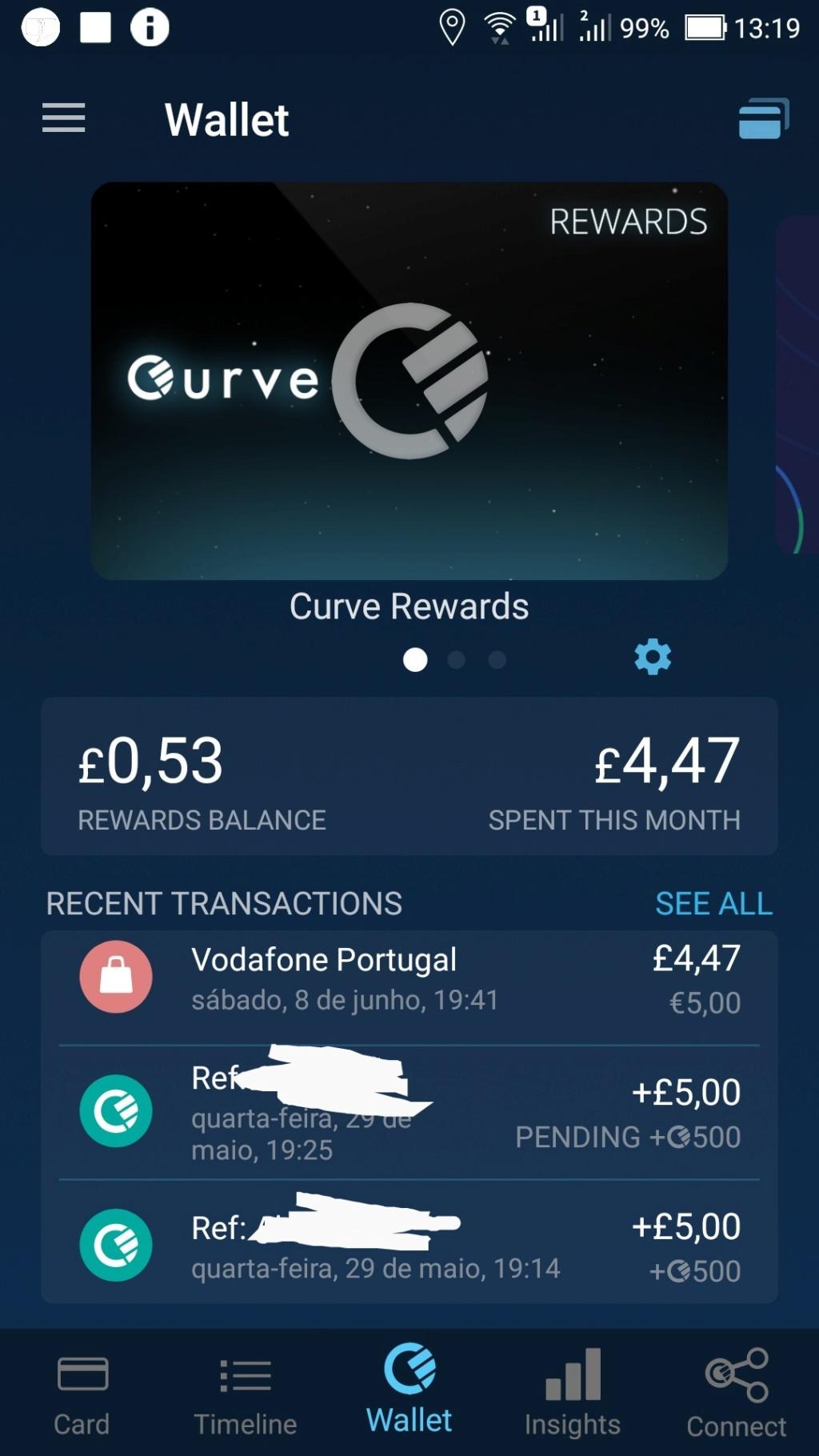 Oportunidade [Provado] Curve - Cartão all in one oferece + de 5€ Screen41