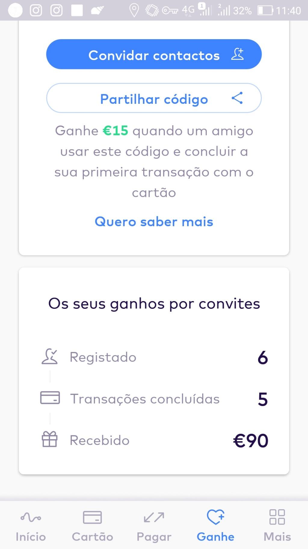 Oportunidade [Provado] Monese App - Ganha até 25€ (ganhei 160€) Screen52