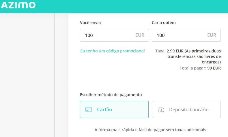 Oportunidade [Provado] Azimo - Recebe 10€ na tua primeira transacção (ganhei 30€) Vdvdv10