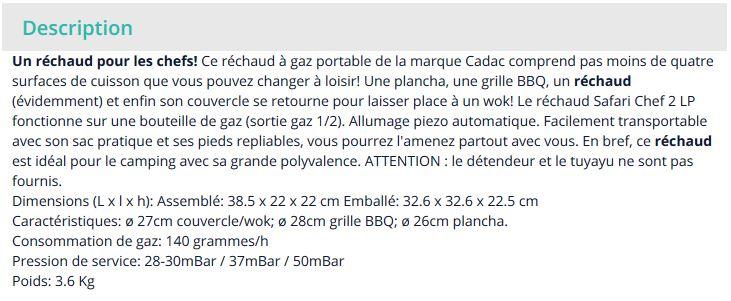 probleme de fonctionnement CADAC Safari Chef 2 avec bouteille camping gaz. Captur29