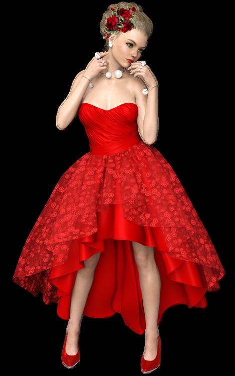 Défi du 29Octobre / Femme vêtue de rouge Myriam11