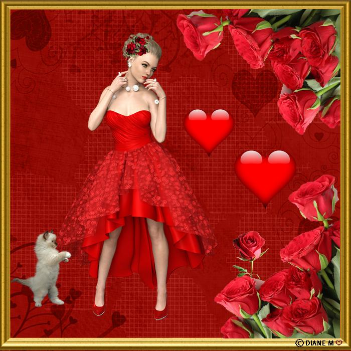 Défi du 29Octobre / Femme vêtue de rouge Myriam13