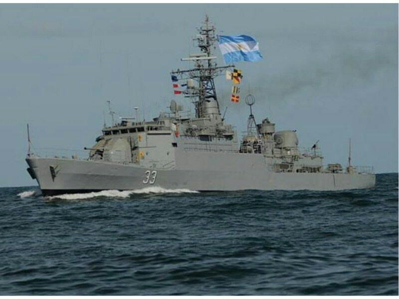La corbeta ARA Granville ingresó a dique de carena en Mar del Plata 20190813