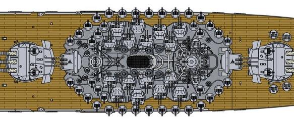 [Uchronie] IJN Yamato 1955 (Nichimo, Fujimi et scratch 1/200°) par habikitokay - Page 3 Exempl10