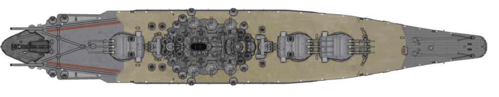 [Uchronie] IJN Yamato 1955 (Nichimo, Fujimi et scratch 1/200°) par habikitokay - Page 2 Yamato10