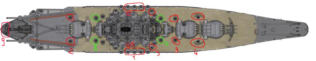 [Uchronie] IJN Yamato 1955 (Nichimo, Fujimi et scratch 1/200°) par habikitokay - Page 2 Yamato11