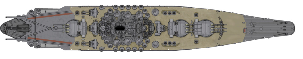 [Uchronie] IJN Yamato 1955 (Nichimo, Fujimi et scratch 1/200°) par habikitokay - Page 2 Yamato15
