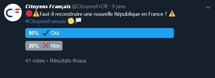 Faut-il reconstruire une nouvelle République en France ? Twitte13