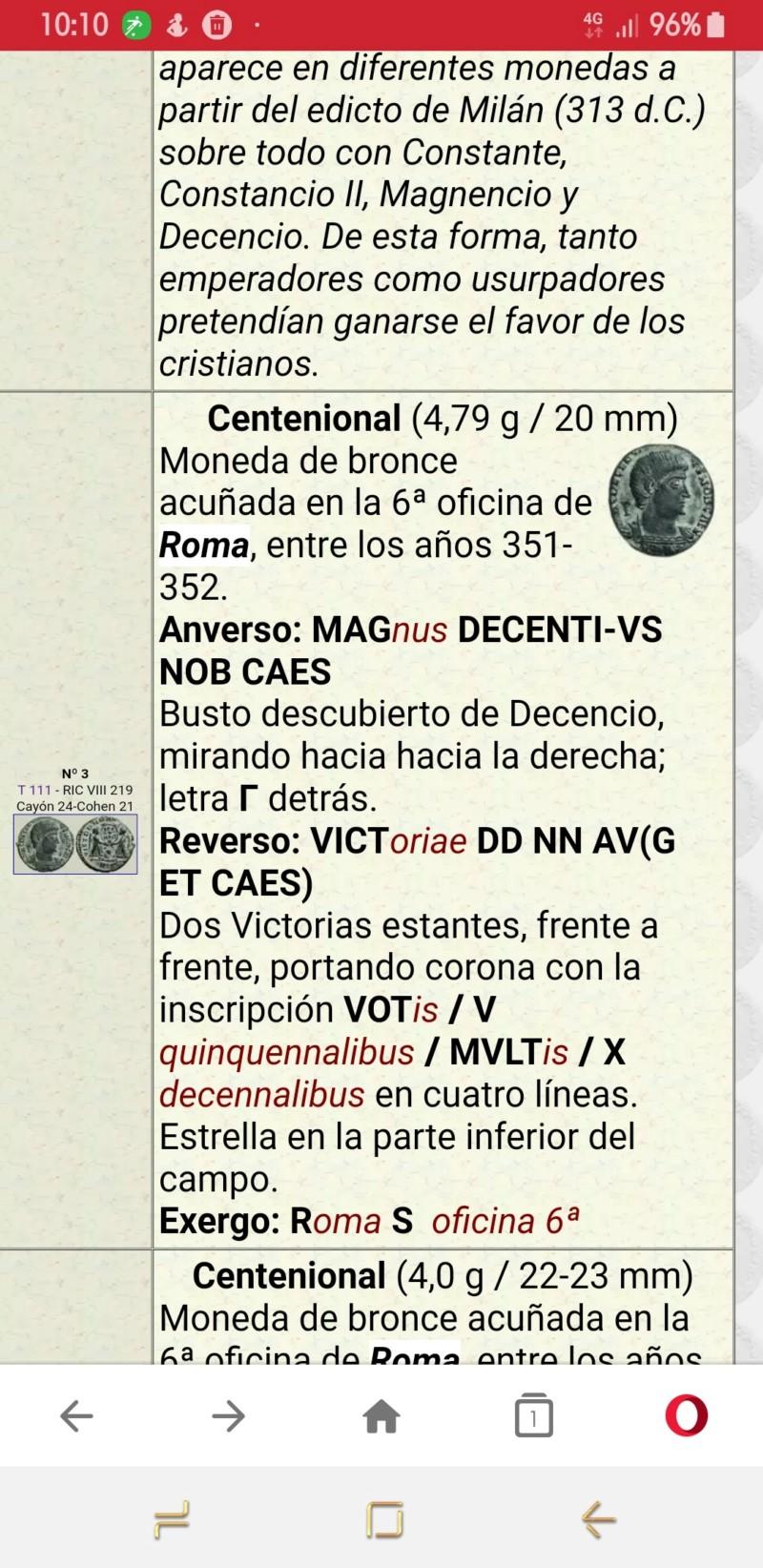 AE2 de Decencio. VIT DD NN AVG ET CAES. Roma 20190327