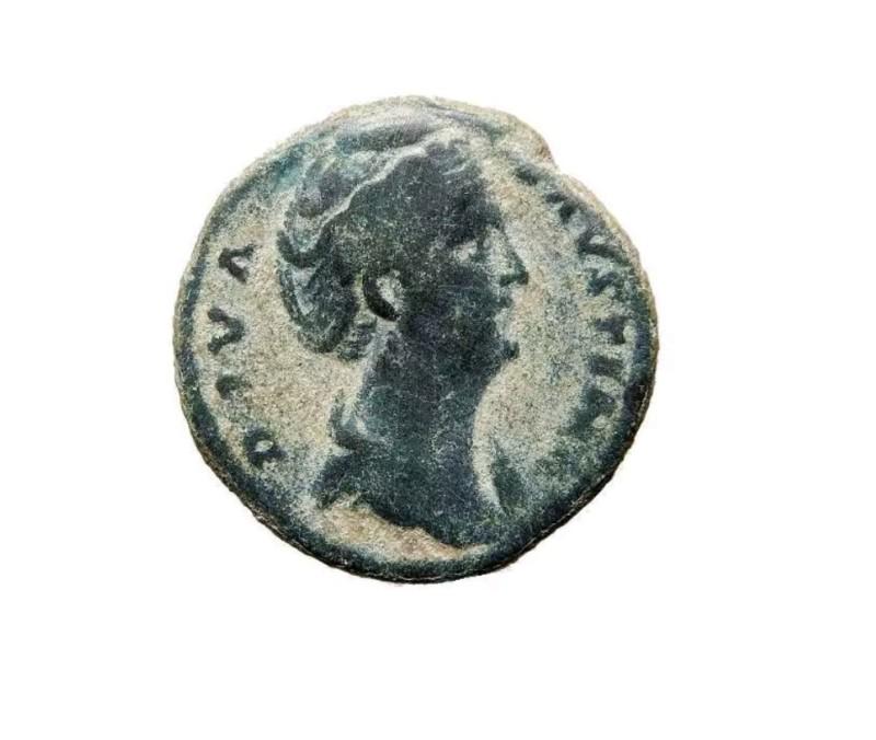 Dupondio o As de Faustina I. AVGVSTA /S C. Vesta 20190414