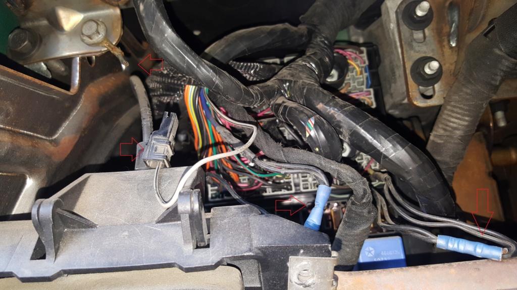 cable de masse coupe /fil plus debranche plus d'eclairage compteur et autre boutons de commandes 20190410