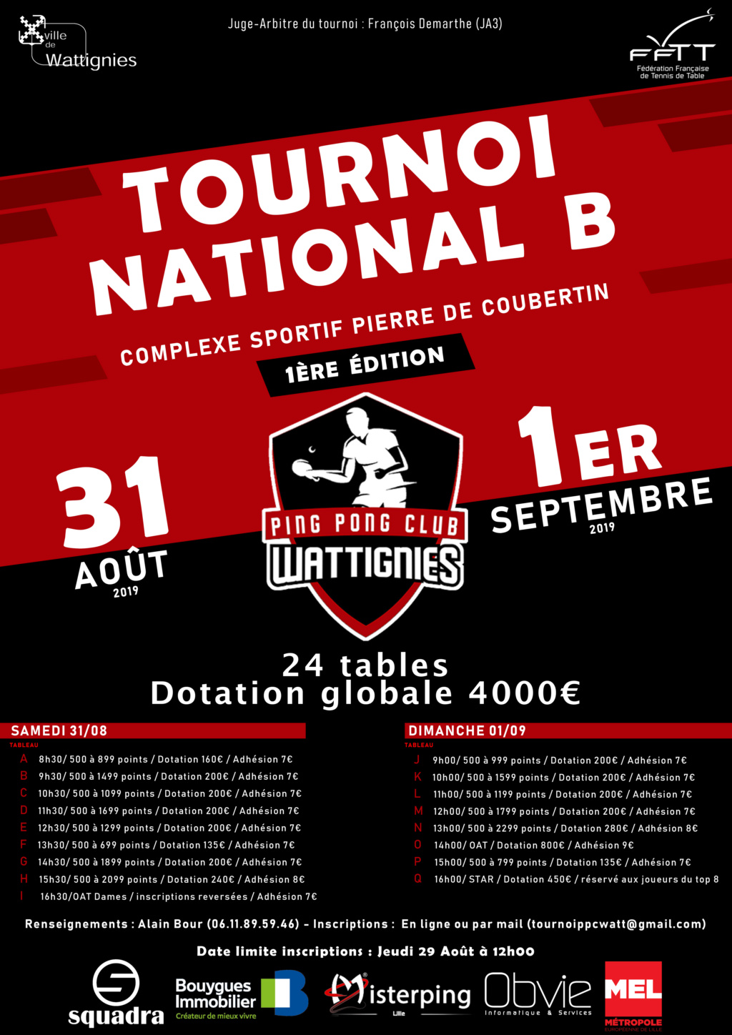 Tournoi national B PPC WATTIGNIES 31 août et 1er septembre Affich10