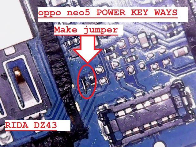 Oppo neo 5 power key jumper way Thu_ja10