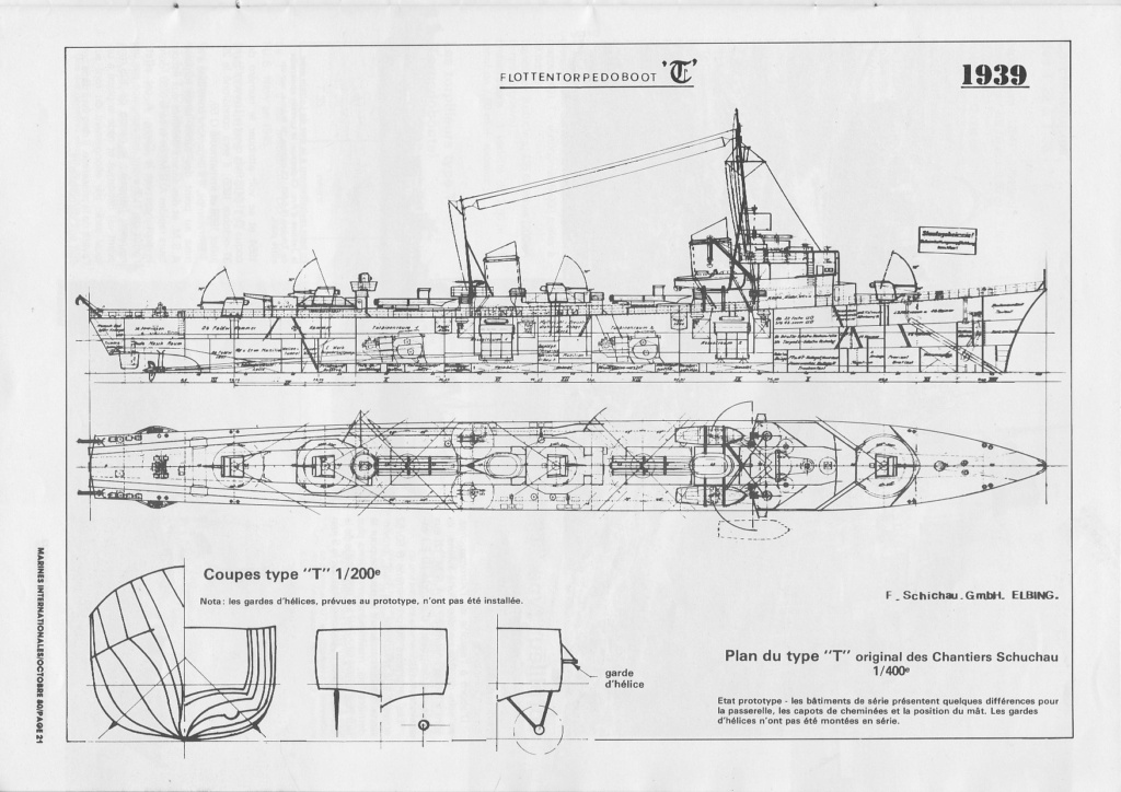 Torpilleur le LORRAIN ex T28 (Kriegsmarine) Réf 81031  Torpil12