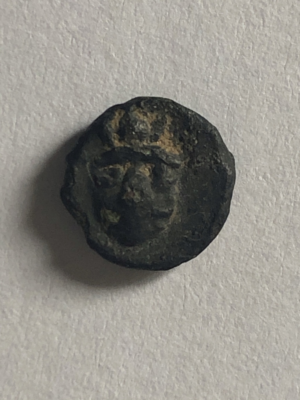 Divisor incierto en bronce. Atenea con ureus/Atenea (?). Siglo III a.C. Be398210