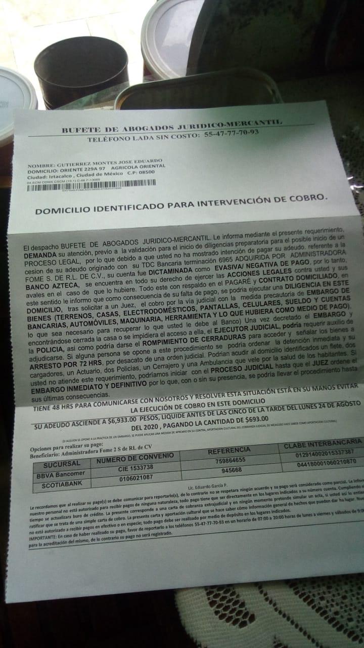 Debo 6,933 a Banco Azteca  Whatsa10