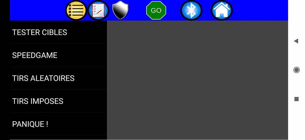 Cibles électroniques avec des Led et commandées par smarphone android 01-acc11