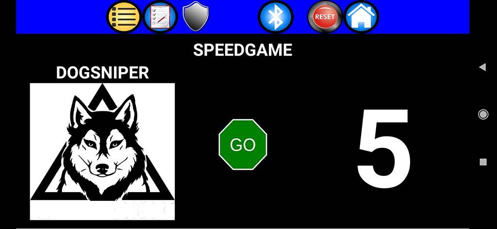 Cibles électroniques avec des Led et commandées par smarphone android Compte10