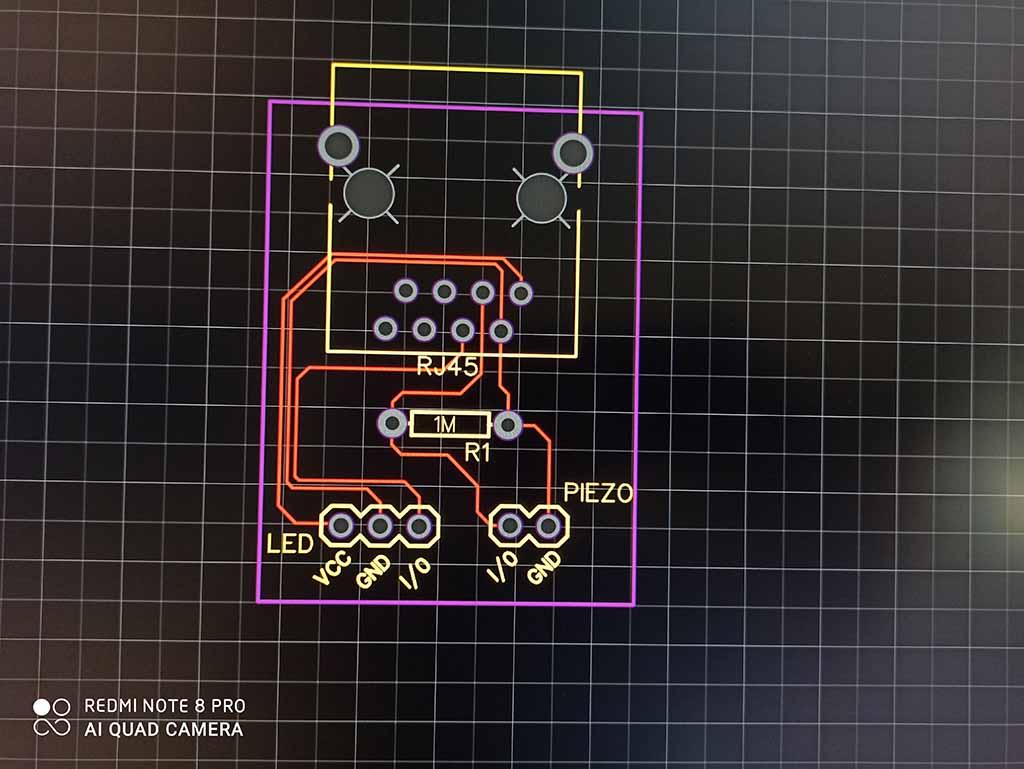 Cibles électroniques avec des Led et commandées par smarphone android Module10