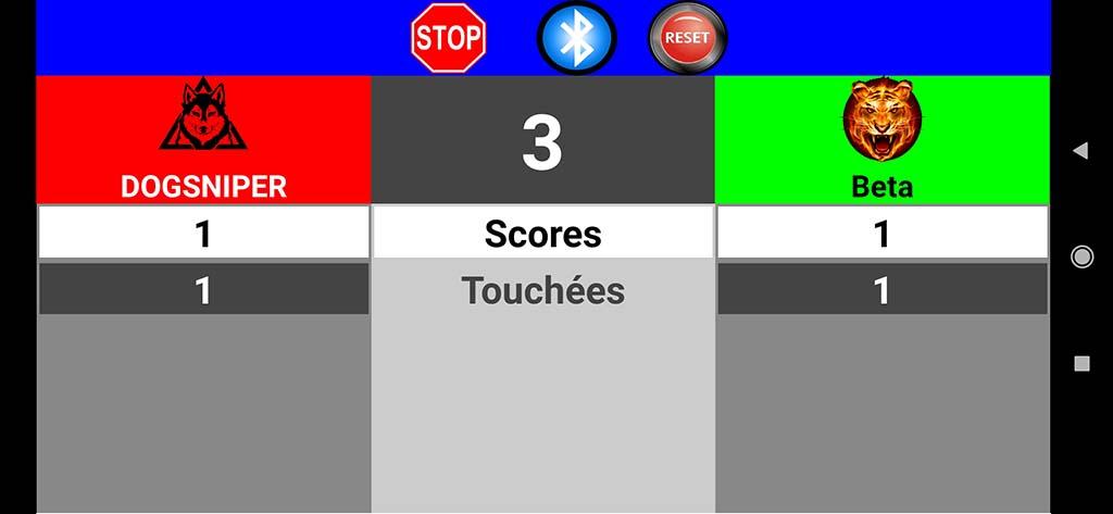 Cibles électroniques avec des Led et commandées par smarphone android Scored10