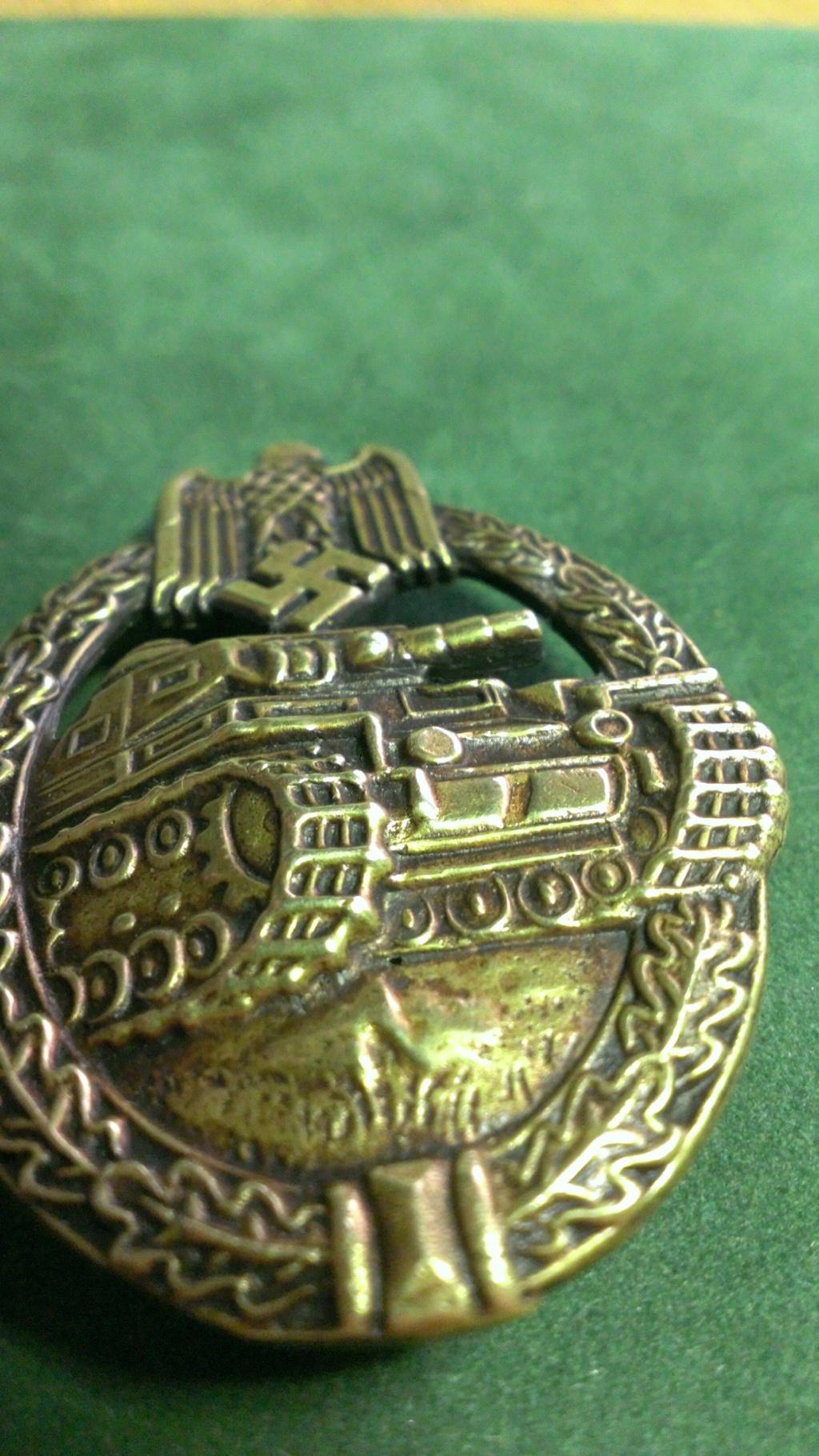 Panzerkampfabzeichen bronze Rodolf SOUVAL Wp_20102